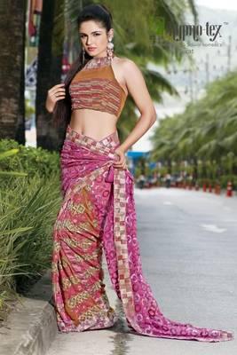 chai designer saree 3020