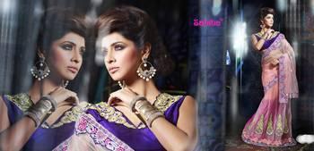Ghunghroo Designer Lahenga Sari 7703