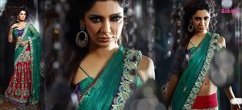 Ghunghroo Designer Lahenga Sari 7706