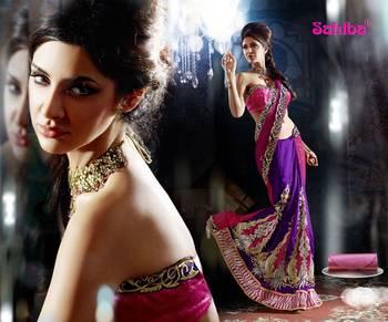 Ghunghroo Designer Lahenga Sari 7710