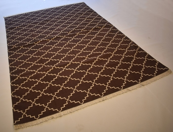Persian Kilim  100% Cotton Royal Brown Color Rug Best Choice Home Decorative Rug