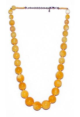 Just Women - Genuine Yellow Jade Necklace