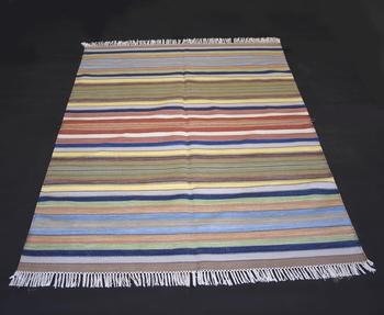 Beautiful Cotton Multi Color Handwoven Area Kilim Rug Home Decorative Rug