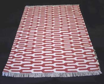 Handmade Hand Woven Designer Pink Color Cotton Area Rug Home Decorative Rug