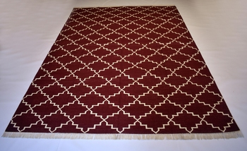 Turkish Persian Kilim  100% Cotton Maroon Color Rug Mat Best Choice Home Decorative Rug
