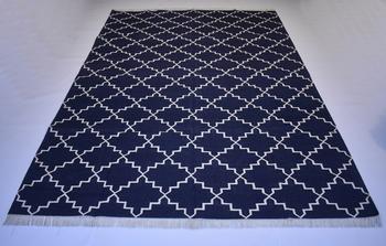 Turkish Persian Kilim  100% Cotton Blue Color Rug Best Choice Home Decorative Rug