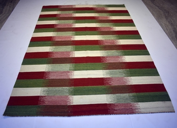 Multi Color Geo Wool Cotton Rug Wool Cotton Rug Nice Rug