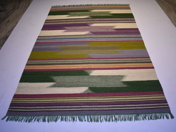 Handmade Multi Color Wool Cotton Rug Home Decor For Area Rug Gift