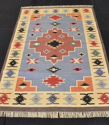 Handmade Multi Color 100% Cotton Antique Carpet Looking For Gift