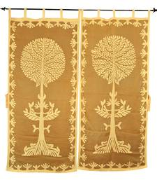 Tab Top Panel Cotton Tree Of Life Curtain For Living Room Decor