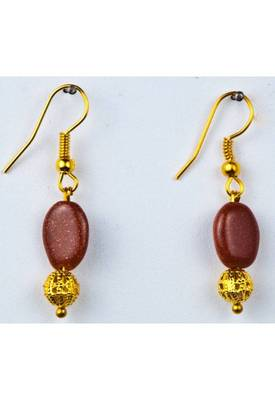 Just Women - Genuine Sunstone Gold Tone Earrings