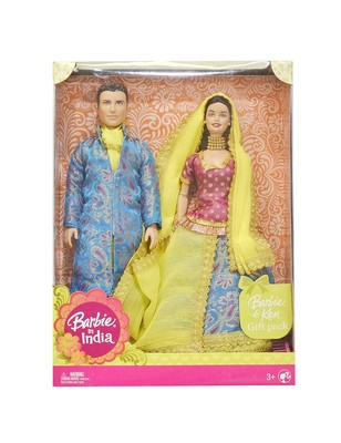 Barbie in India Barbie & Ken Gift Pack Dressed in Traditional India Attire (Color & Design May Vary)
