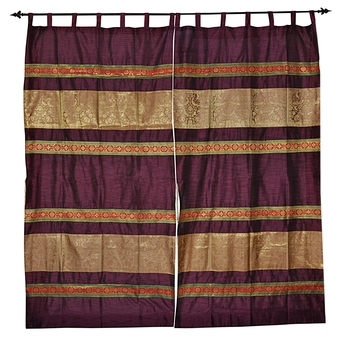 Lal Haveli silk Curtains for Door Living Room Decorations 42 X 85 inches