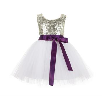 White Embroidered Net Kids Frocks