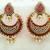 Lovely Half Red Chandbali Earrings
