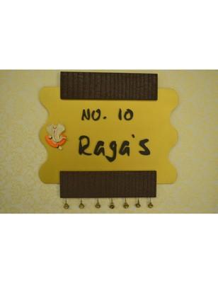 Karigaari Wooden Raga Name Plate (Customizable)