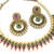 Purple And Green pearl polki necklace set