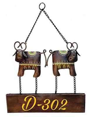 Karigaari india wrought iron customizable love bulls shaped