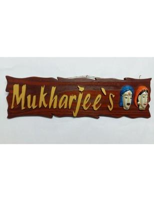 Karigaari India Wooden Customizable Couple Name Plate