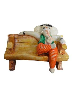 Karigaari India Multicolor Polyresine Ganesha Card Holder & Figurine