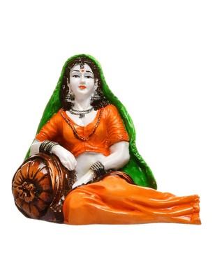 Karigaari Polyresine India Rajasthani Lady in Resting Posture
