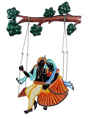 Karigaari India Elegant Radha with Krishna Wall Hanging Showpiece I Love Gifts I Religious Gifts