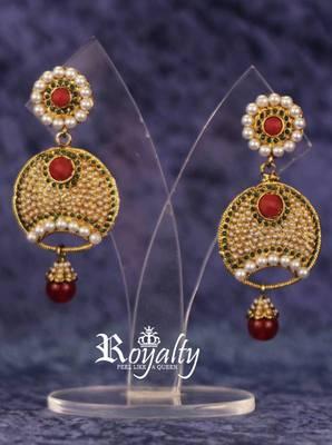 Royalty Pearls studded Polki Earrings