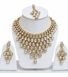 Buy White zircon  necklaces indian-dress online