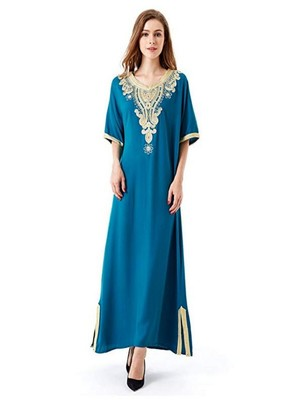 NEW MOROCCAN ARABIC ISLAMIC PARTY WEAR PARTY DRESS FOR WOMEN