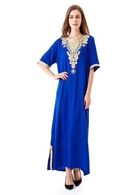 NEW MODERN MOROCCAN ARABIC EID KAFTAN DRESS FOR WOMEN GOWN