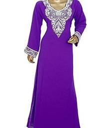 ROYAL MOROCCAN DUBAI BEAUTIFUL ZARI WORK JILBAB JALABIYA KAFTAN DRESS