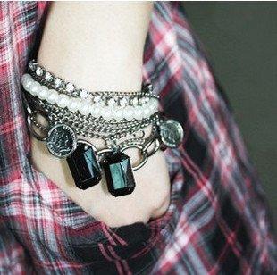 Pearl Charm Multilayer Bracelet