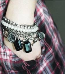 Buy Pearl Charm Multilayer Bracelet(CFB0023) Bracelet online