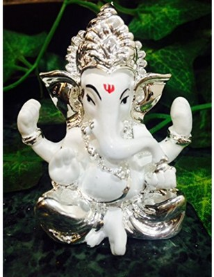 Karigaari Lucky Car Dashboard and Gifting Ganesha Polyresine Idol (7.62 cm x 7.62 cm x 7.62 cm)