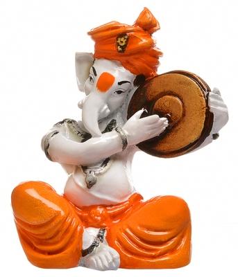 SN Handicrafts Lord Ganesha Playing Guitar for Home Decor| Office Decor| Chrismas Decor| Diwali Decor