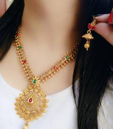 Buy Multicolor diamond necklace sets necklace-set online