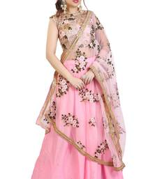 Light Pink lehenga with Embroidered Choli & Dupatta