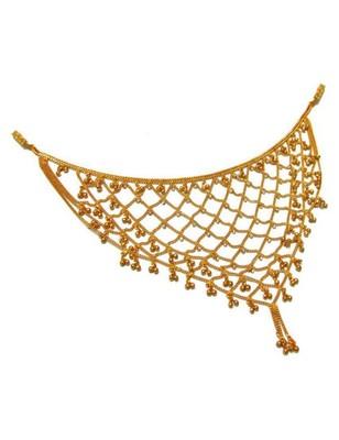 Designer Diamond Stone Golden Waist Belt Saree Challa Kamarbandh Kamarpatta Belly Hips Chain