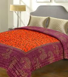 Buy Violet And Orange Rajastani Double Bed Razai jaipuri-razai online