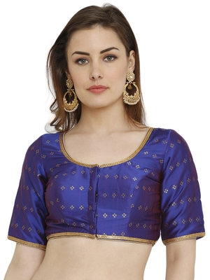 Royal Blue Dupion Silk Readymade Padded Blouse