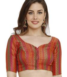 Multicolor Dupion Silk Readymade Padded Blouse