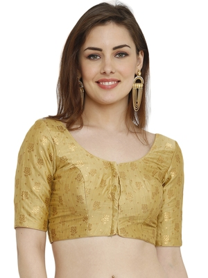 Gold Dupion Silk Readymade Padded Blouse