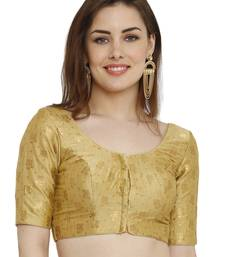 Gold Dupion Silk Readymade Padded Blouse