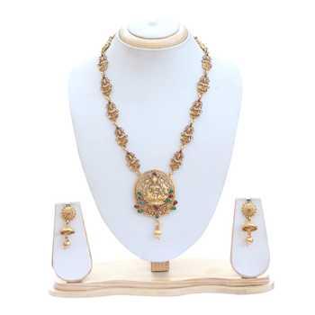 Antique Goddess Lakshmi golden temple jewellery set