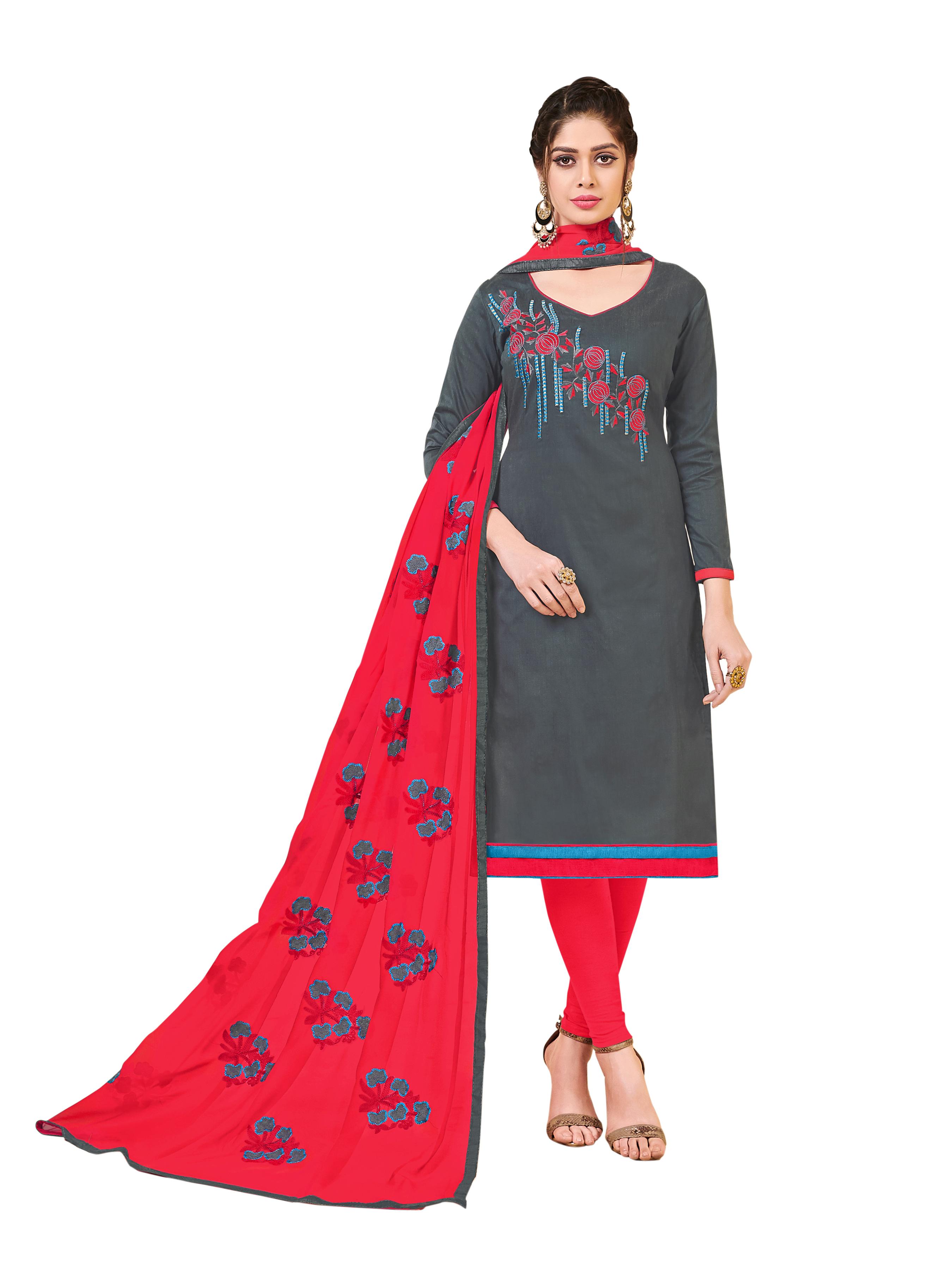 71e4226019 Grey embroidered banarasi silk salwar - Blissta - 2806069