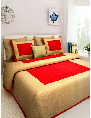 Rudra Booty Design Printed Double BEDSHEET with Two Pillow Cover