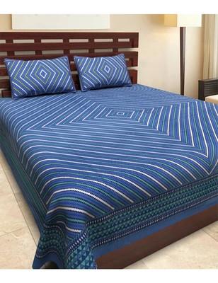 5fdc23a3727 RUDRA Rajasthani PRINTS Double Bedsheet Jaipuri Rajashani 100% Cotton  Multicolor - RUDRA - 2806227