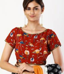 Multicolor printed silk readymade-blouse