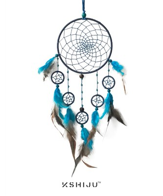 Kshiju multicolor handmade seven ring dream catcher wall art, spiritual, boho wall decor