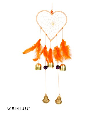 "Kshiju's heart shape dreamcatcher orange 5*15"" inch wall hangings home decor nursery decor"